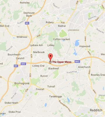 the-upper-mews-blackwell-B60-1QN-map